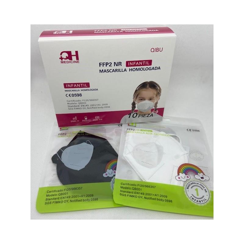 MASCARILLA INFANTIL FFP2 COLORES