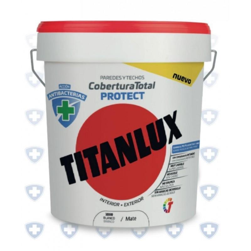 TITANLUX COBERTURA TOTAL PROTECT ANTIBACTERIAS BLANCO 4LT